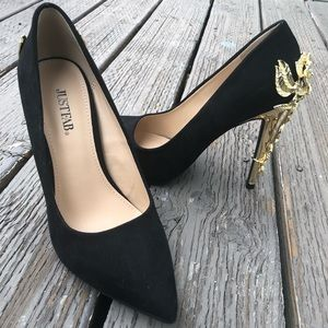 Metallic Heel Pump